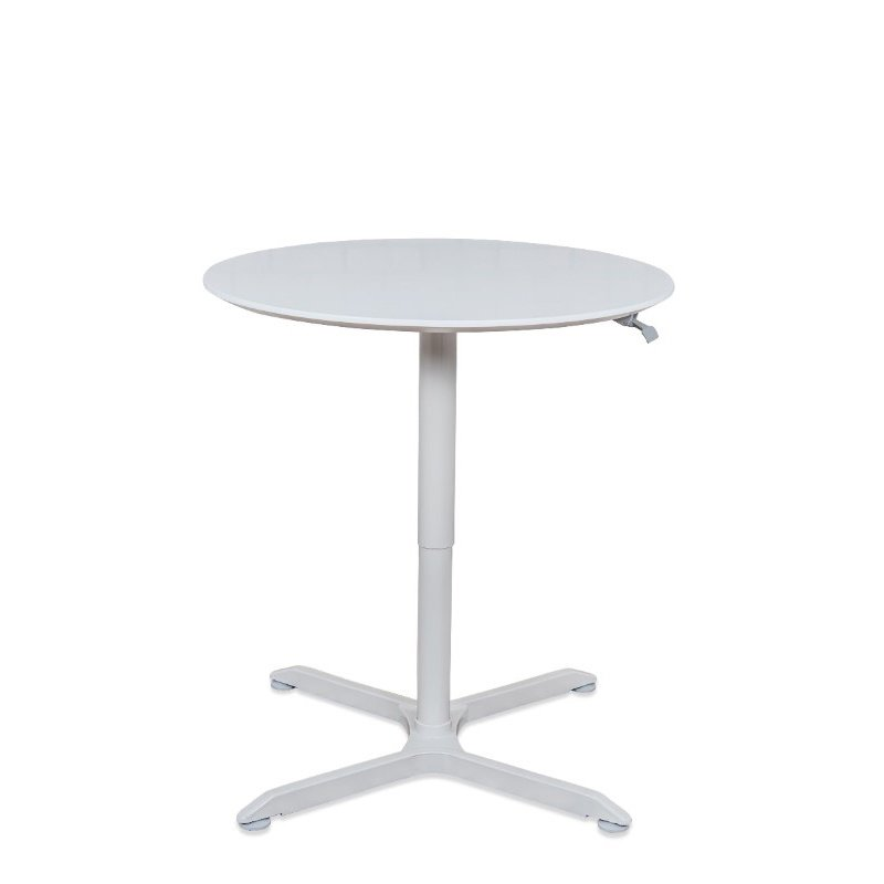 """Luxor 36"""" Pneumatic Height Adjustable Round Cafe Table in Gray (LX-PNADJ-36RD)"""