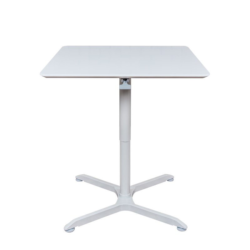 """Luxor 36"""" Pneumatic Height Adjustable Square Cafe Table in Gray (LX-PNADJ-36SQ)"""
