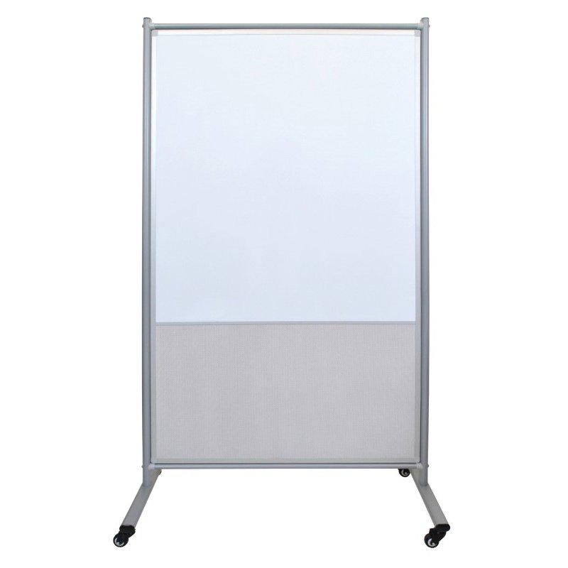 Luxor 40x72 Divider Board White Board & Mesh (MD4072MW)
