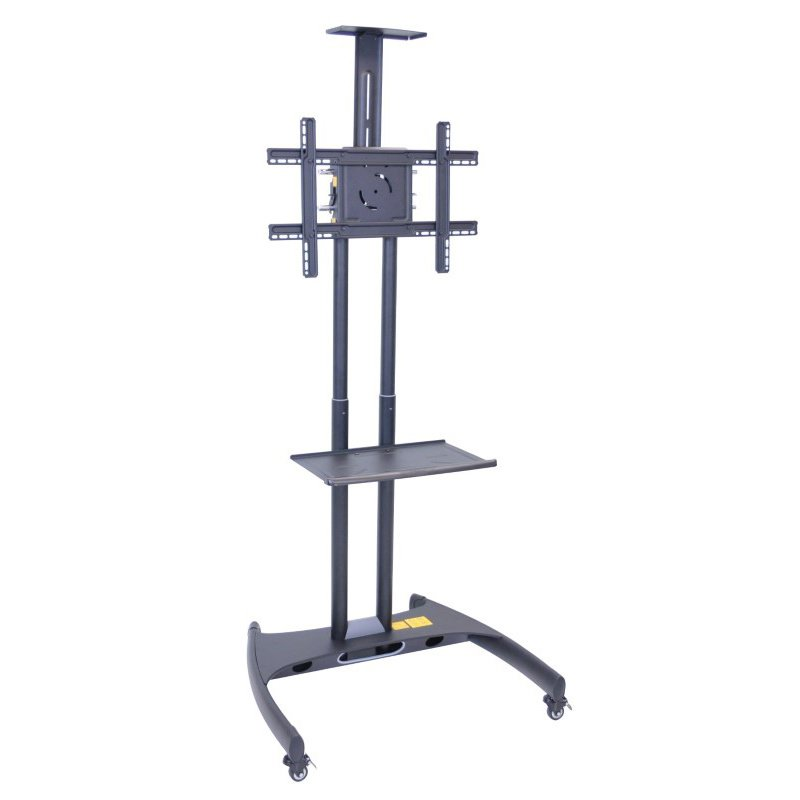 Luxor Adjustable Height Rolling Flat Panel Cart with Accessory Shelf & Camera Mount (FP2750)