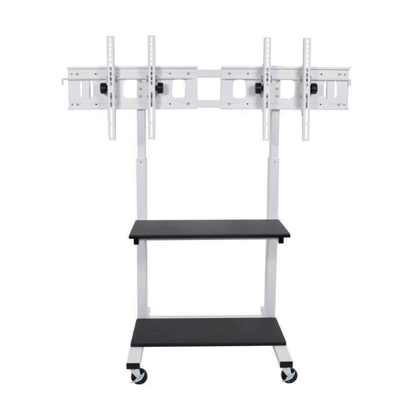Luxor Crank Adjustable Dual Flat Panel TV Cart (CLCD-DUAL)