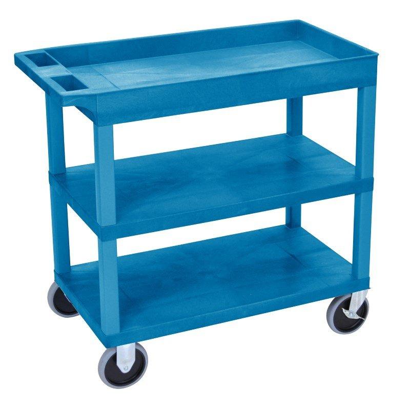 Luxor EC122HD 18x32 Blue Cart 2 Flat with 1 Tub Shelf (EC122HD-BU)