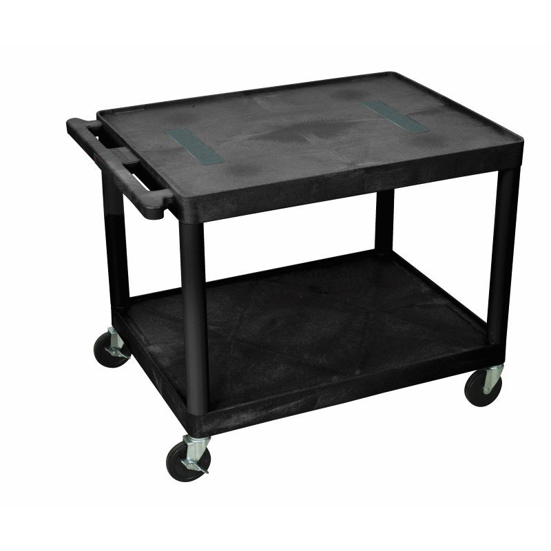Luxor Endura A/V Cart 2 Shelves Black (LE27-B)