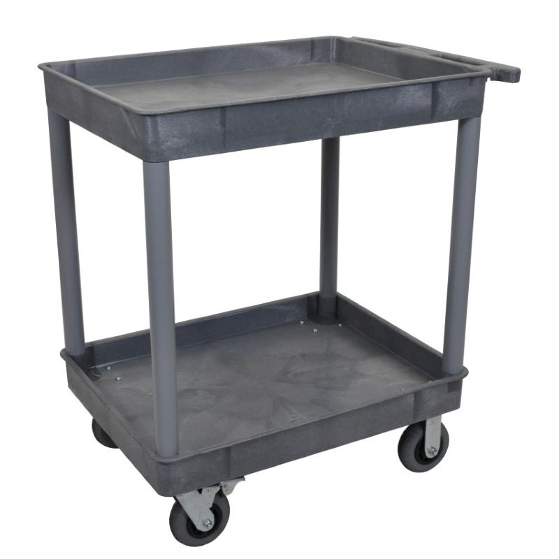 Luxor Gray 24x32 2 Tub Cart with SP6 Casters (TC11SP6-G)