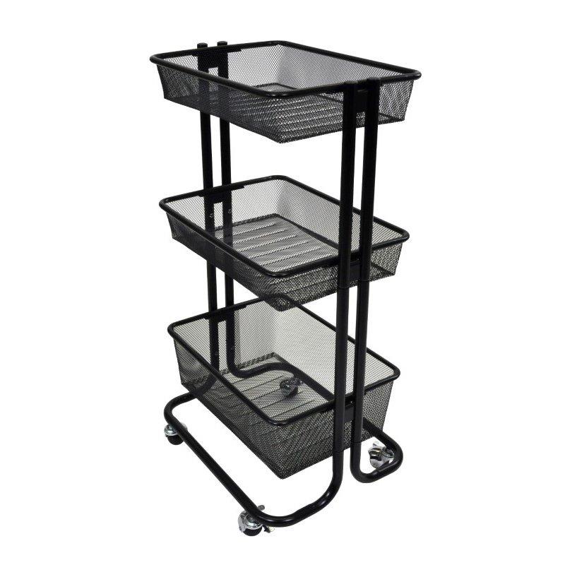 Luxor Kitchen Utility Cart - Black (KUC-BK)