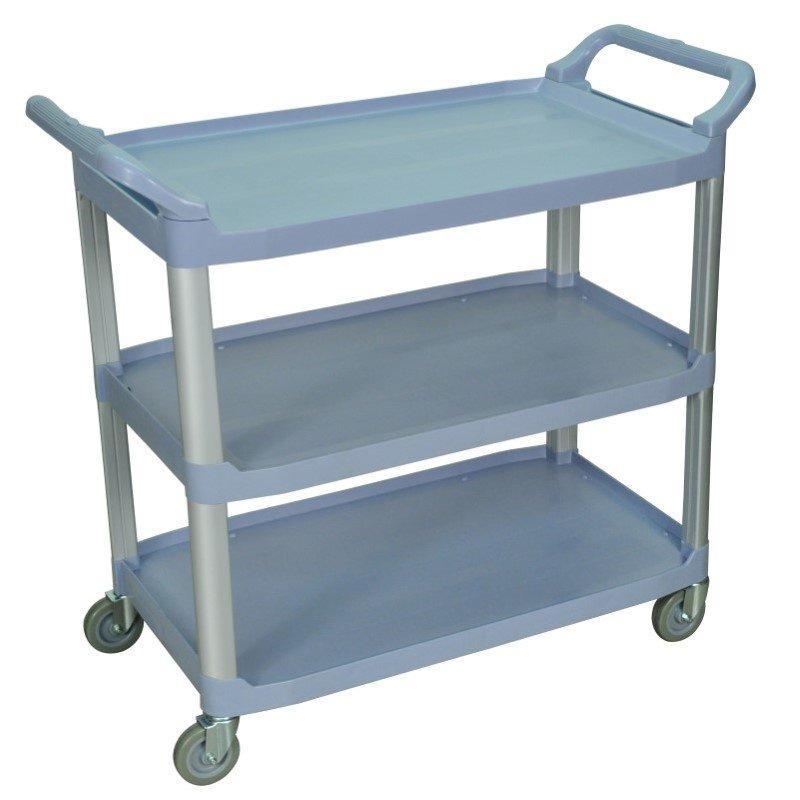 Luxor Large 3 Shelf Gray Serving Cart (SC13-G)