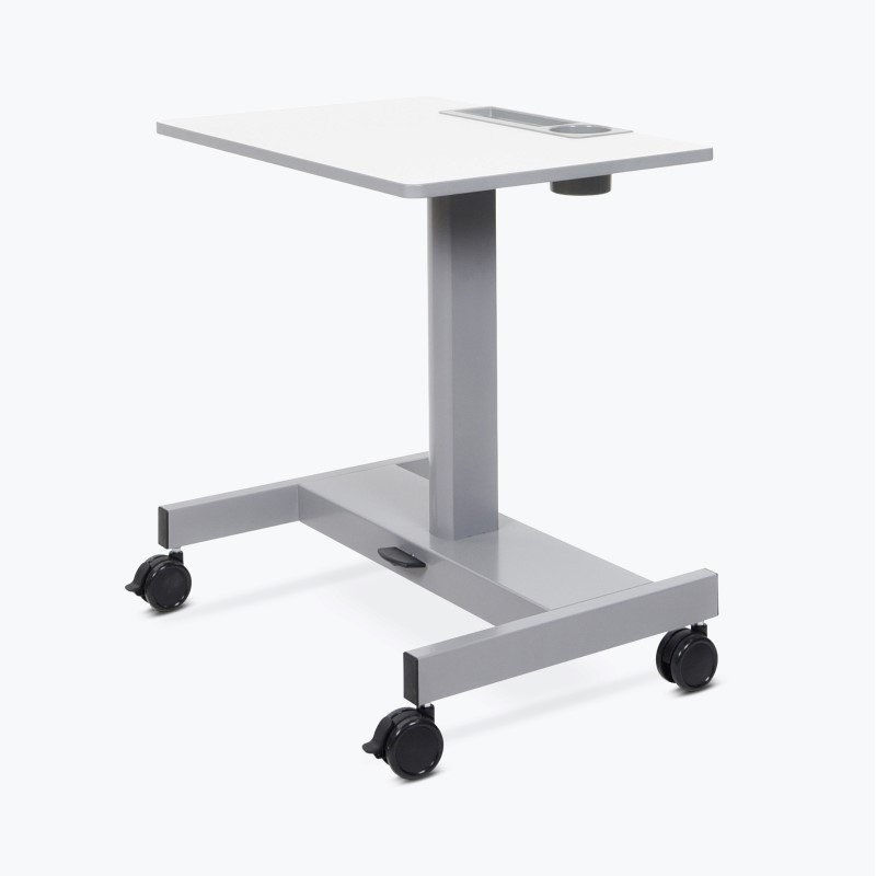 Luxor Pneumatic Sit Stand Desk-Short Version in Gray (STUDENT-P-S)