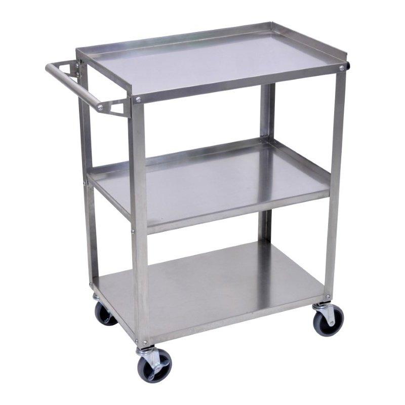 Luxor Stainless Steel 3 Shelf Cart (SSC-3)