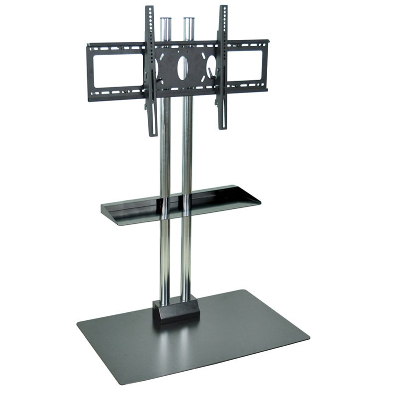 Luxor Stationary Flat Panel TV Stand with Shelf and Mount (WPSMS62SCH)