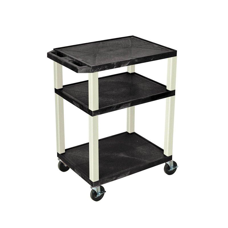 Luxor Tuffy Black 3 Shelf AV Cart (WT34)