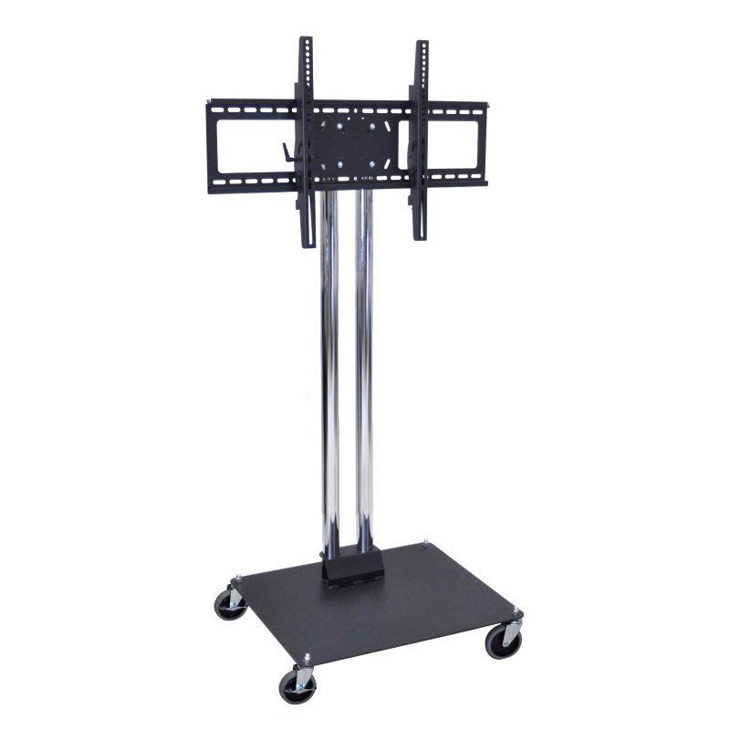 "Luxor Universal Flat Panel Stand with 4"" Casters (WPSMS44CH-4)"