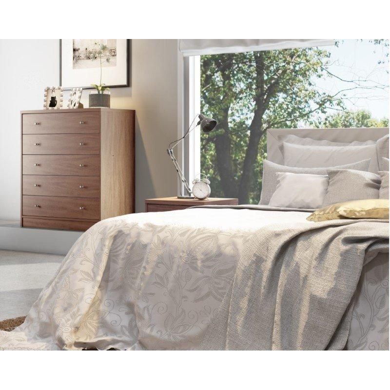 Manhattan Comfort Astor 2.0 Modern Dresser with 5 Drawers in Maple Cream