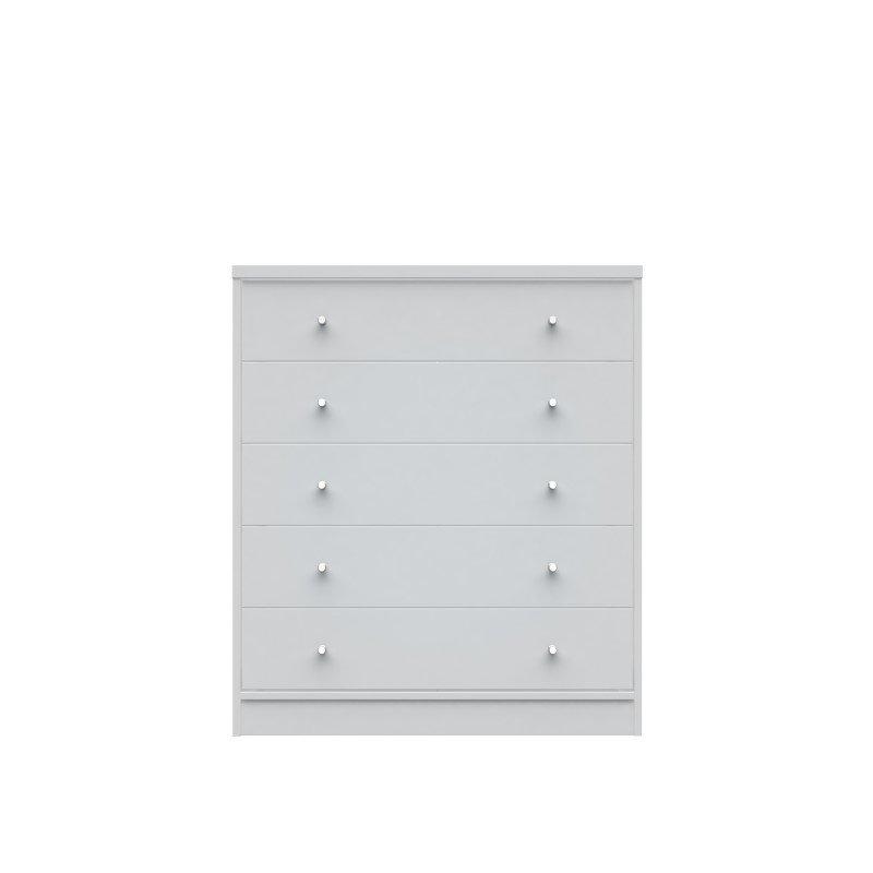 Manhattan Comfort Astor 2.0 Modern Dresser with 5 Drawers in White