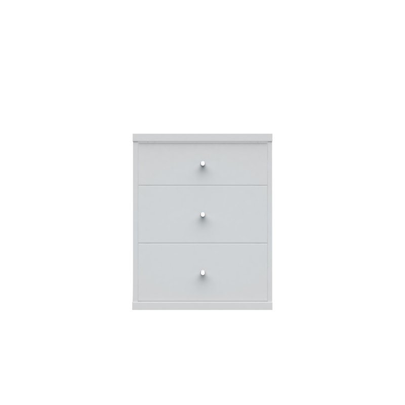 Manhattan Comfort Astor 2.0 Modern Night stand with 3 Drawers in White