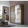 Manhattan Comfort Bellevue 2-Doors Wardrobe Armoires in Chocolate