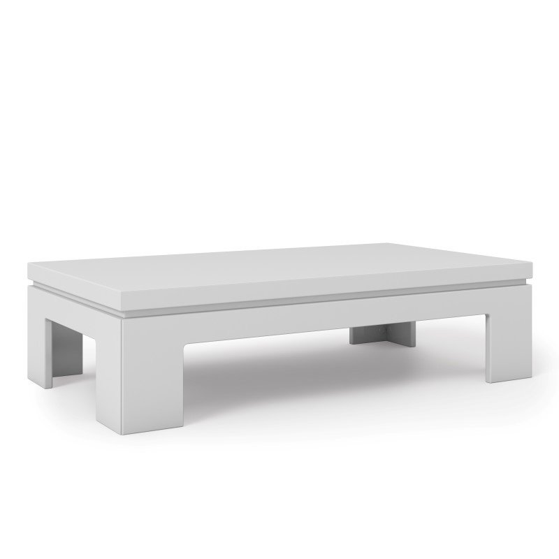 "Manhattan Comfort Bridge 2.0 - 41.65"" Length Modern White Gloss Accent Side Coffee Table"