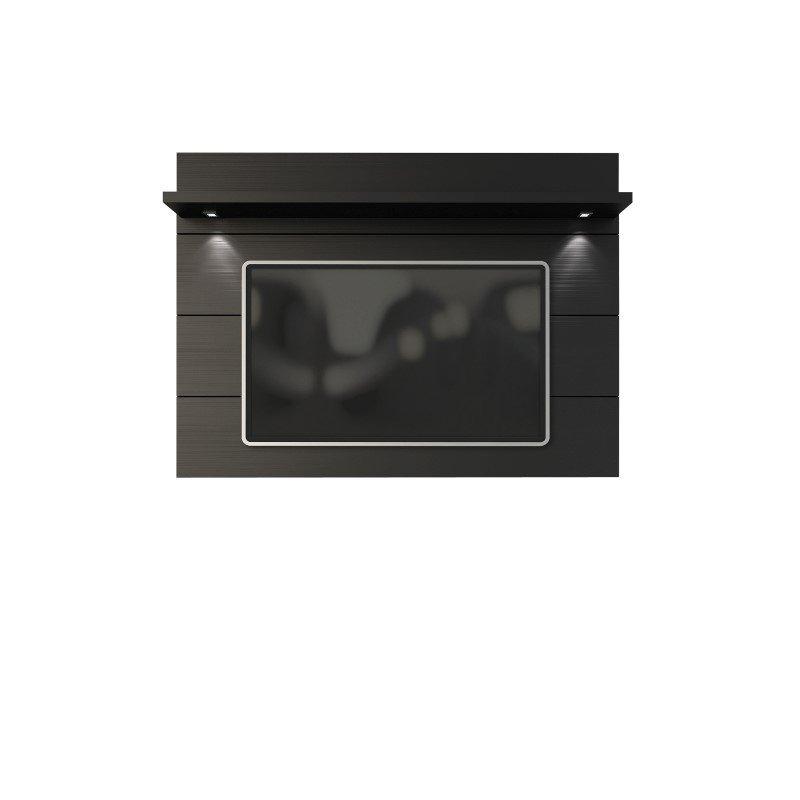 Manhattan Comfort Cabrini 1.8 Floating Wall TV Panel in Black Matte
