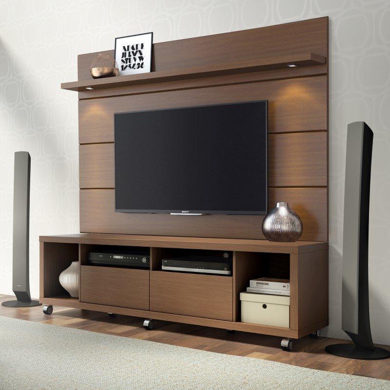 Manhattan Comfort Cabrini 1.8 TV Stands & Entertainment Centers in Nut Brown