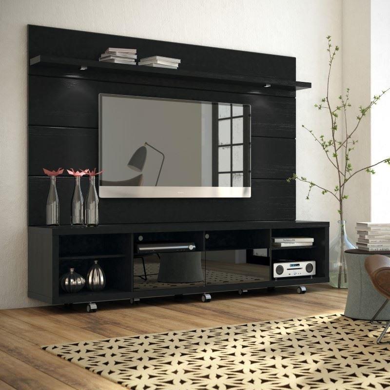 Manhattan Comfort Cabrini 2.2 TV Stands & Entertainment Centers in Black