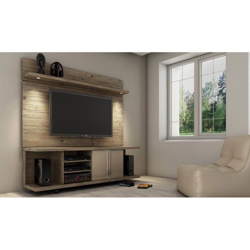 Manhattan Comfort Carnegie TV Stand TV Stands & Entertainment Centers in Nature and Nude
