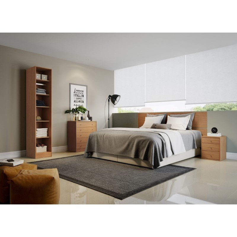 Manhattan Comfort Chelsea 1.0 17.71 inch Wide 6-Shelf Closet in Maple Cream