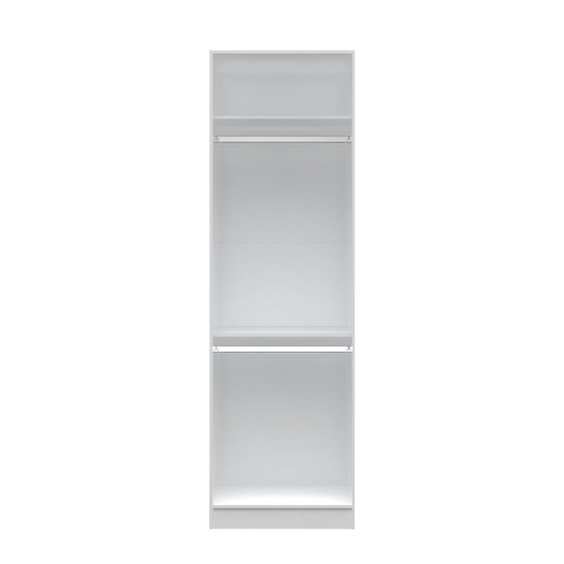 Manhattan Comfort Chelsea 1.0 27.55 inch Wide Double Hanging Closet in White