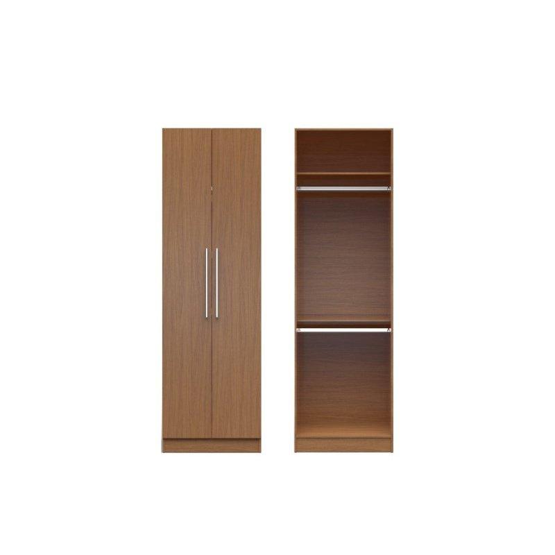 Manhattan Comfort Chelsea 1.0 27.55 inch Wide Double Hanging Closet with 2 Doors in Maple Cream