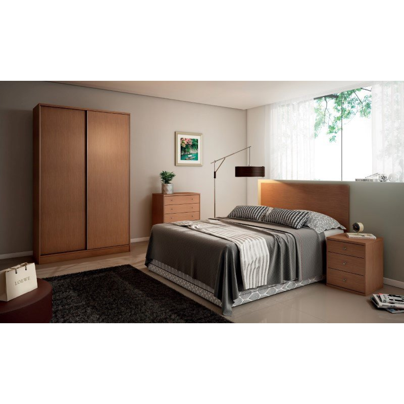 Manhattan Comfort Chelsea 1.0 54.33 inch Wide Double Basic Wardrobe with 3 Drawers and 2 Sliding Doors in Maple Cream