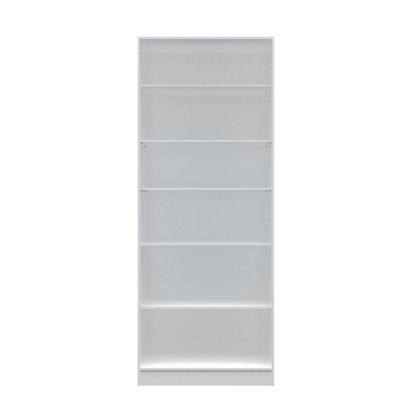 Manhattan Comfort Chelsea 3.0 35.43 inch Wide 6-Shelf Closet in White