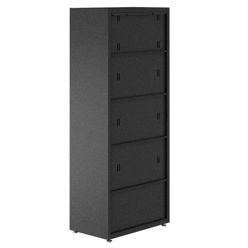 "Manhattan Comfort Fortress Textured Metal 75.4"" Garage Cabinet with 4 Adjustable Shelves in Grey (1GMCF)"
