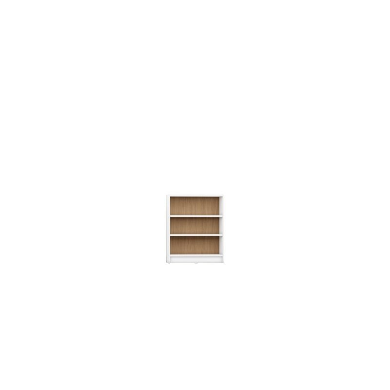 Manhattan Comfort Greenwich 3 Shelf Wide Grande 2.0 Bookcase with Doors in White Matte and Maple Cream