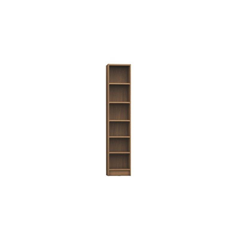 Manhattan Comfort Greenwich 6 Shelf Narrow Venti 2.0 Bookcase with Doors in Maple Cream