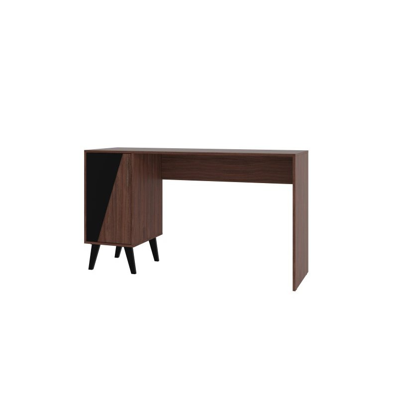Manhattan Comfort Hogan 2- Shelf Mid Century Office Desk in Dark Brown (134AMC158)