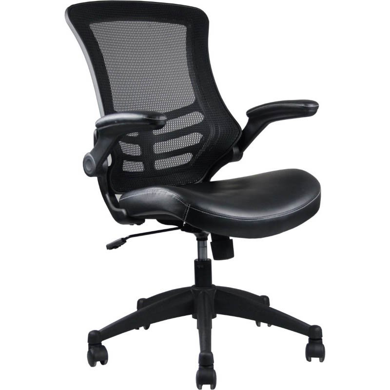 Manhattan Comfort Intrepid High-back Office Chair in Black