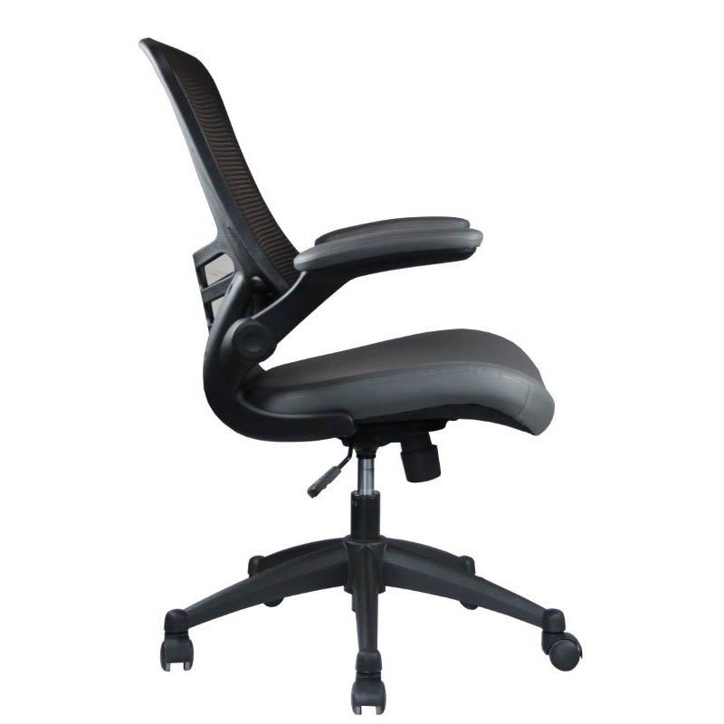 Manhattan Comfort Intrepid High-back Office Chair in Coffee and Grey