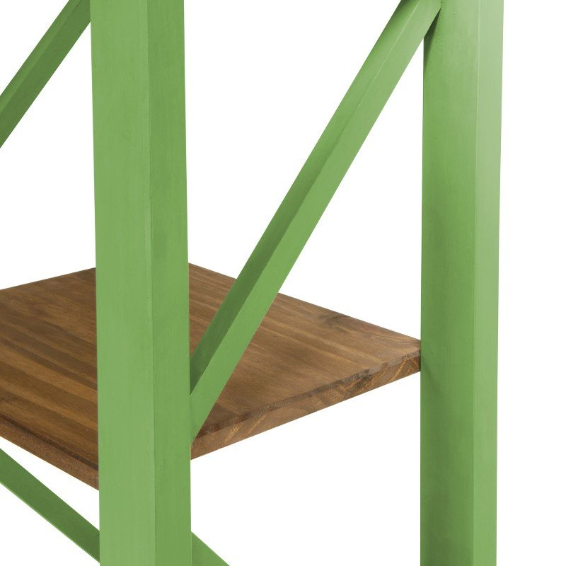 """Manhattan Comfort Jay 18.5"""" Solid Wood Bookcase with 4 Shelves in Green Wash (CS34004)"""
