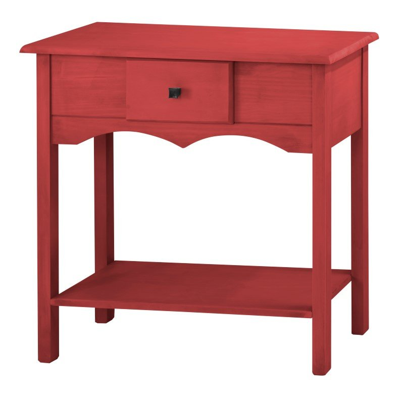"""Manhattan Comfort Jay 31.49"""" Tall Sideboard/Console with 1 Full Extension Drawer in Red Wash (CS50203)"""