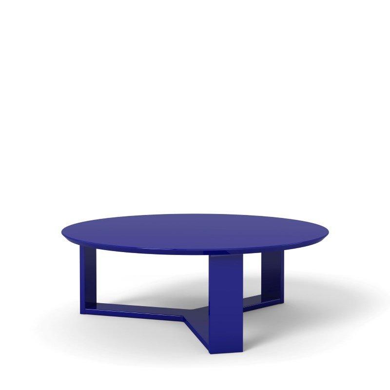 "Manhattan Comfort Madison 1.0 - 35.78"" Round Accent Coffee Table in Midnight Blue"