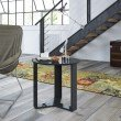 """Manhattan Comfort Madison 2.0 - 23.85"""" Round Accent End Table in Black Gloss"""