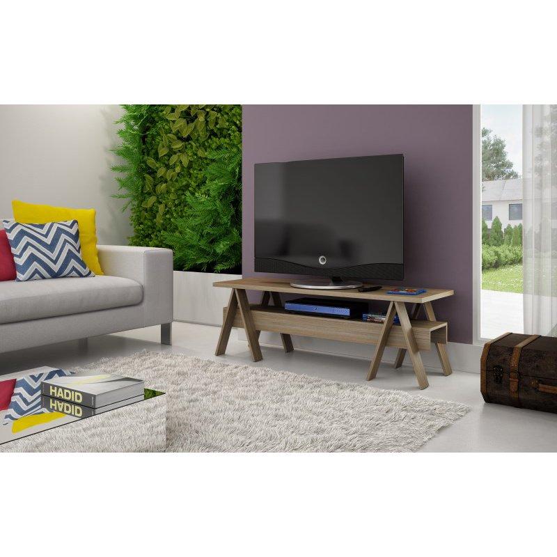 "Manhattan Comfort Messina 53.15"" TV Stand with 1 Lower Shelf in Oak (121AMC23)"