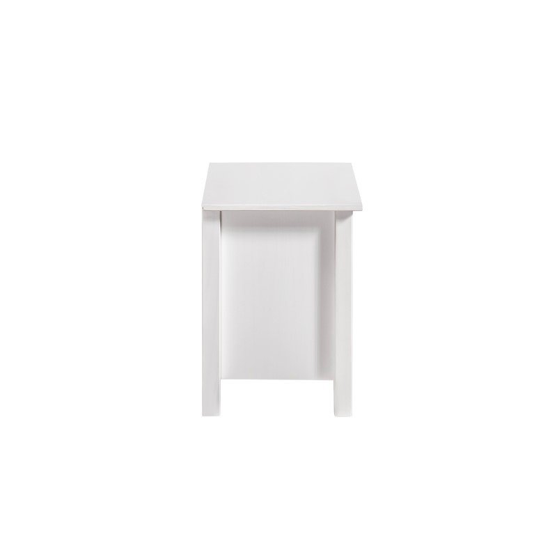 Manhattan Comfort Mid-Century Modern-Rustic 2-Drawer Irving Nightstand in White and Natural Wood (CS86808)