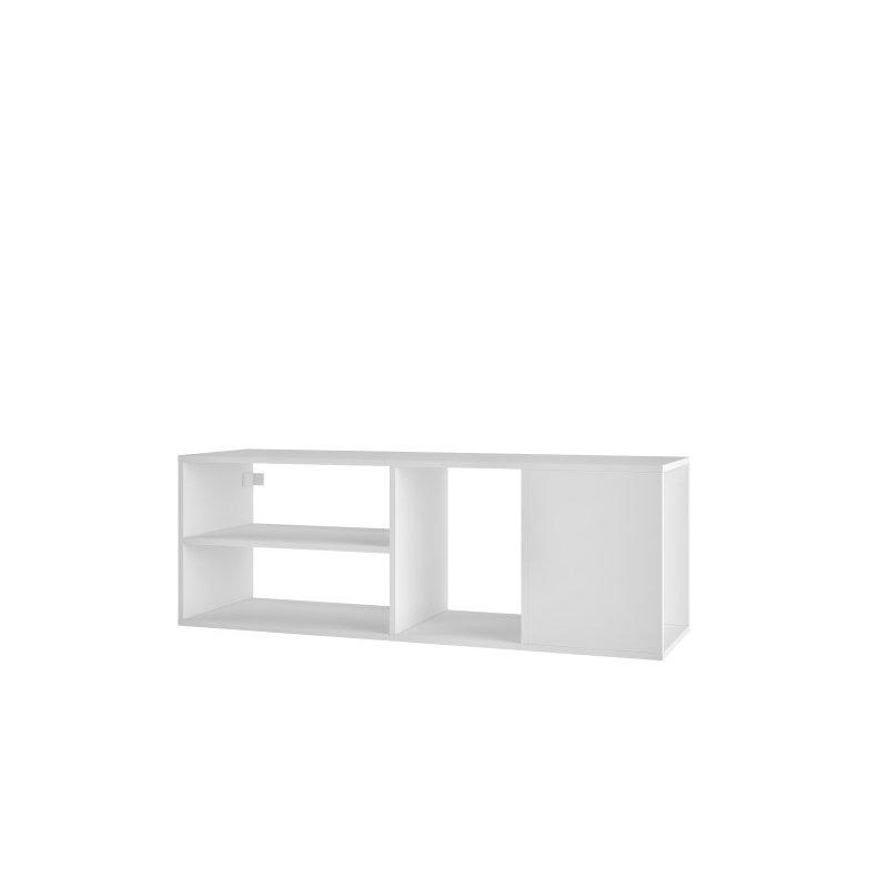 "Manhattan Comfort Minetta 46"" Floating TV Stand with 4 Shelves in White (127AMC6)"
