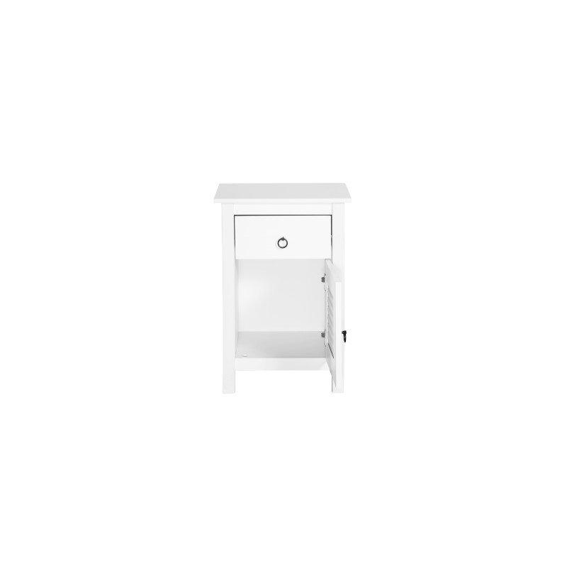 Manhattan Comfort Modern Country 1-Drawer Sullivan Nightstand in White (CS94108)