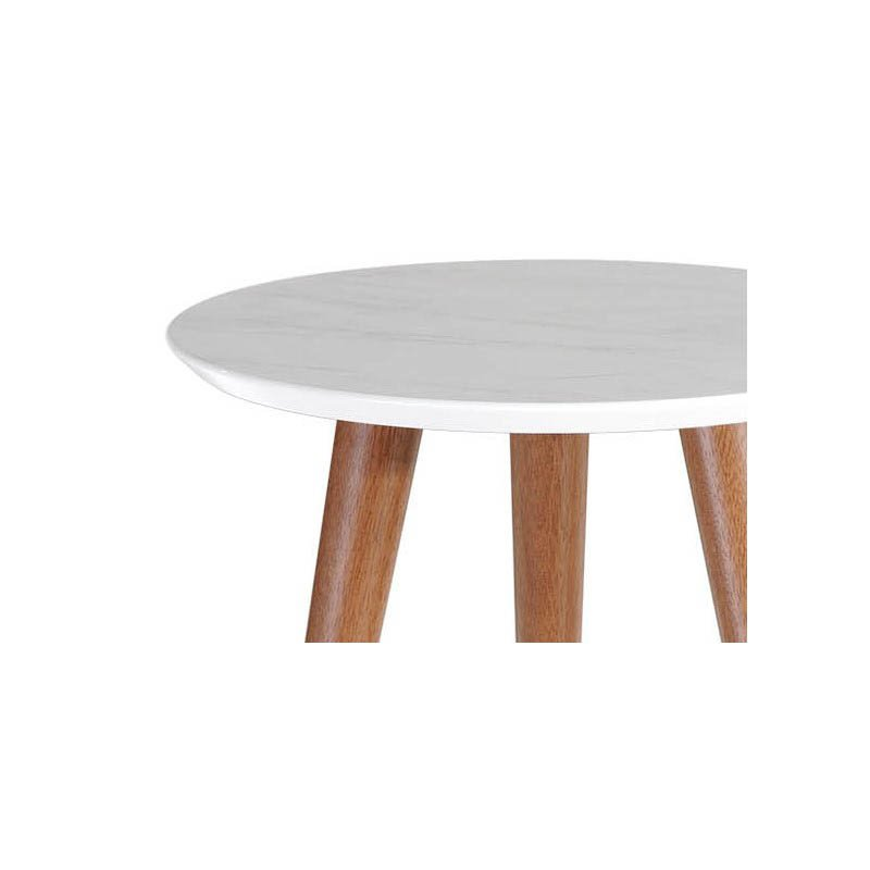 """Manhattan Comfort Moore 17.32"""" Round End Table in Grey (252153)"""