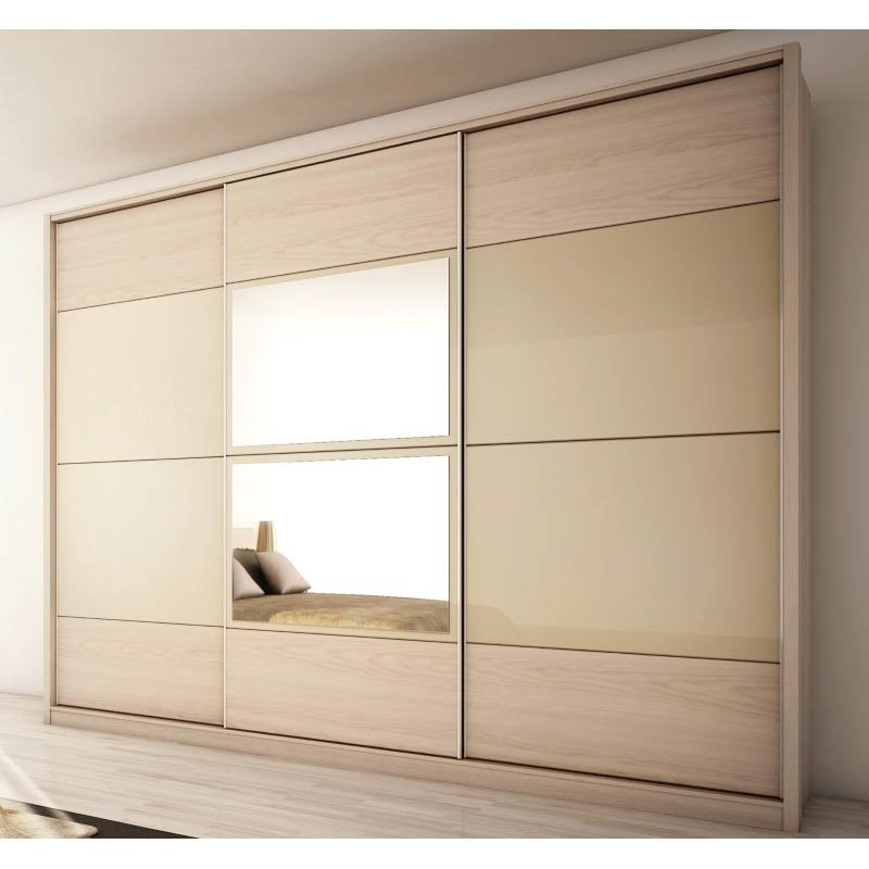 Manhattan Comfort Noho Wardrobe Armoires in Oak Vanilla and Nude