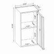 "Manhattan Comfort Smart 13.77"" 2-Piece Floating Cabinet in Black and Grey  (2-14GMC3)"