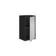 "Manhattan Comfort Smart 13.77"" Floating Cabinet in Black and Grey (14GMC3)"