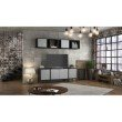 Manhattan Comfort Smart Floating Cube Display Shelf in Black  (13GMC3)