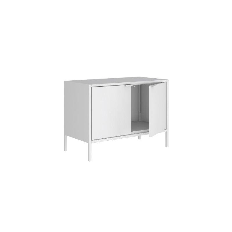 "Manhattan Comfort Smart Low 27.55 ""Wide TV Stand Cabinet in White  (10GMC1)"