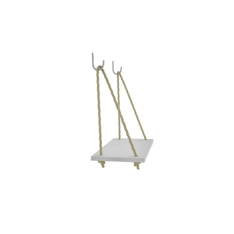 "Manhattan Comfort Uptown 1.0 - 17.52"" Rope Swing Shelf in White (95AMC6)"